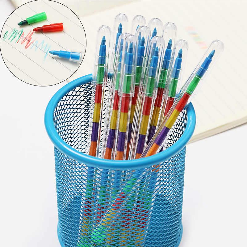 10 colores/Uds. DIY crayones reemplazables al óleo Pastel creativo coloreado lápiz Graffiti pluma para niños pintura dibujo lindo papelería