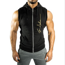 Halloween Mens Shark Hoodies Sleeveless Bodybuilding Fitness Vest Hoodie Sweatshirts Clothing Masculina Hombre Muscle Sportswear