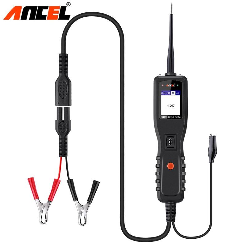 Ансель PB100 тестером Мощность зонд автомобильный диагностический инструмент 12 24 V электрический ток Напряжение Integrated Мощность сканер