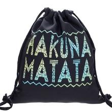 Backpack 3D Printing Travel Softback Man Woman Harajuku Drawstring Bag Mens Backpacks Mochila Feminina BP042