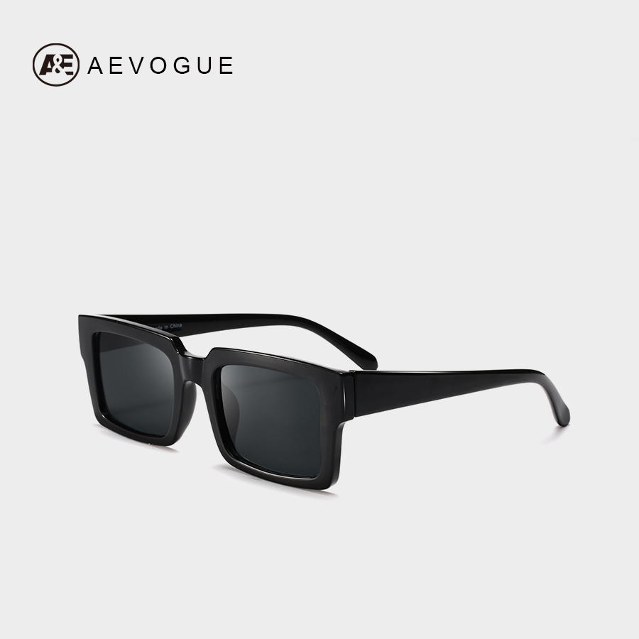 AEVOGUE Sunglasses Women Rectangle Frame Transparent Brand Designer Retro Sun Glasses Unisex Square Brown UV400 AE0664 1