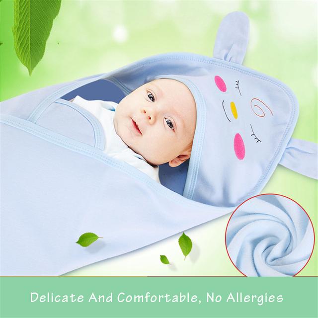 2016 de la Historieta Recién Nacido Wrap Otoño Invierno Bebé Accesorios Infantiles Del Bebé Recibir Mantas Bebé Manta Gruesa Caliente Wrap 50X0026