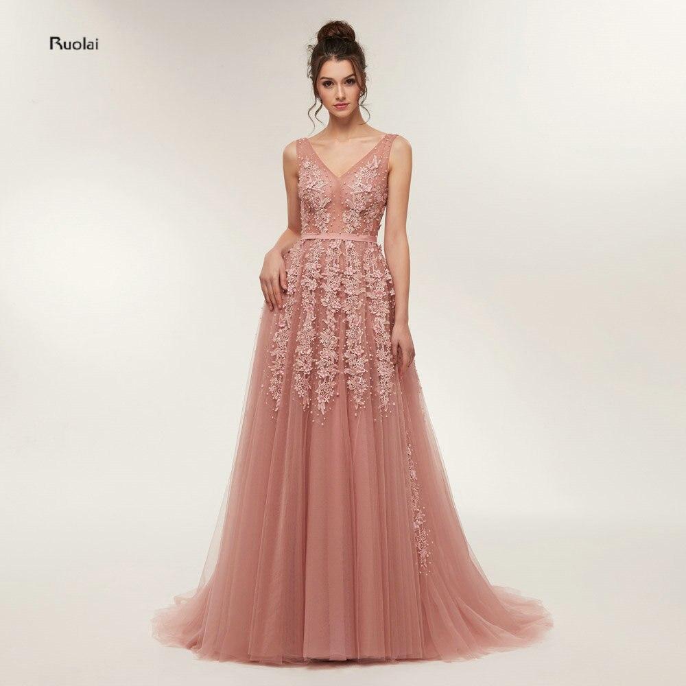 Emerald Green Evening Dresses Long 2018 Tulle Evening Gown Formal Party Dresses  Open Back Prom Dresses vestido de fiesta 66da5d2fef0a