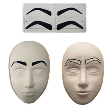 Permanent Makeup Accessories Supplies Disposable Microblading Eyebrow Ruler Sticker Measure Stencil Tattoo Tools for Beginner