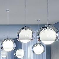 FRETE GRÁTIS HOT!!! 1 pcs dupla camada núcleo de vidro luz pendente de moda breve quarto de iluminação da lâmpada 1061
