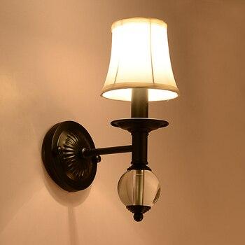 アメリカンカントリーアンティーク寝室のベッドサイドランプ壁ランプクリスタルランプミラーのバスルーム前を階段LU71234 6 ym