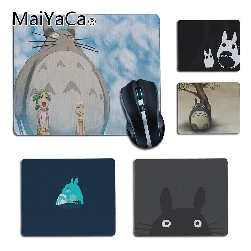 MaiYaCa 2018 New My Neighbor Totoro and friends Gamer Speed Mice Retail Rubber Mousepad Size25X29cm 18x22cm Gaming Mousepad