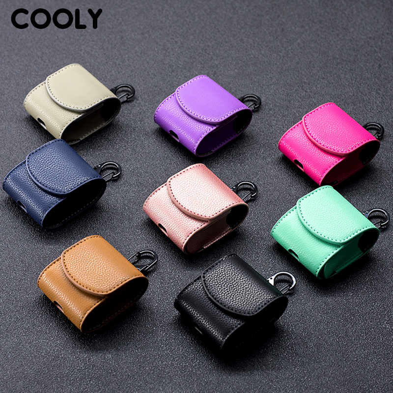 COOLY Retro Leather Case For Apple font b AirPods b font Air Pods Pod Cover Bluetooth