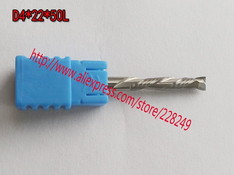 5pcs D4*22*50L HRC55 2 Flutes Up&Down Cut Solid Carbide CNC Router Bit Wood Flat Endmill Tungsten End Milling Cutter Tool 8 60 90 120 v 2 flutes cnc machine engraving bit two spiral cutter cnc router endmill