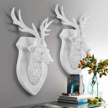 European Animal Heads Hanging Living Room Mural Wall Decoration Resin Craft