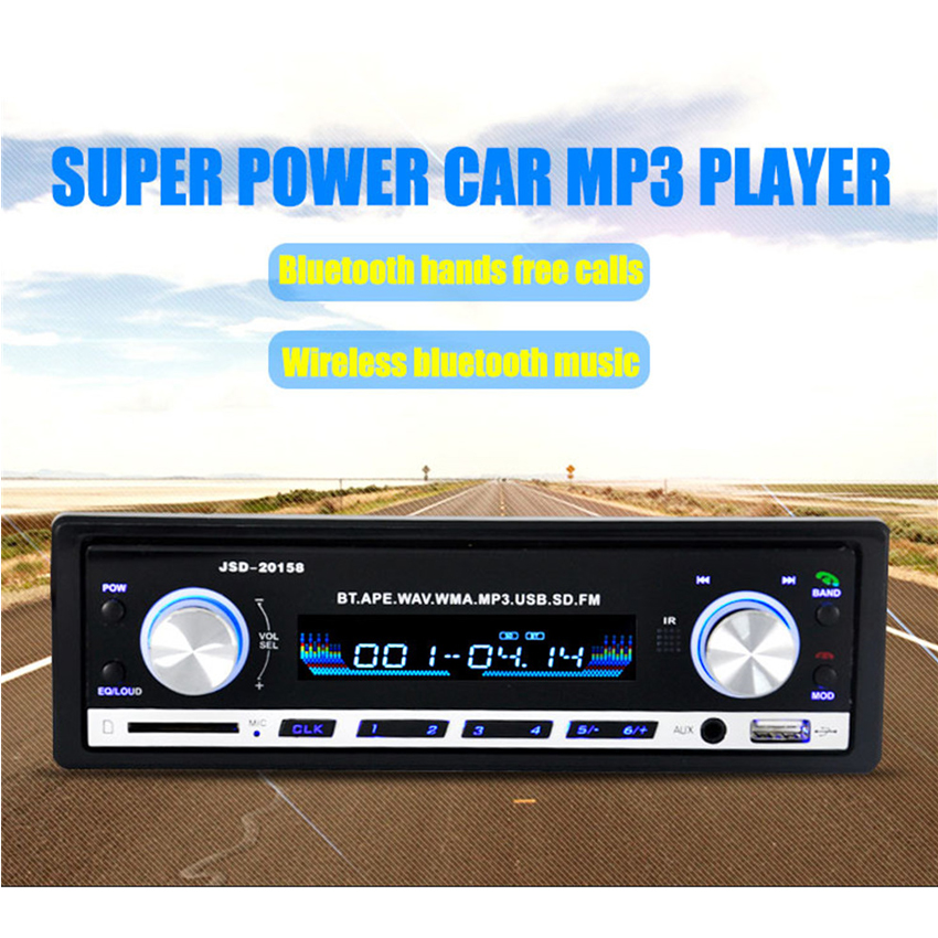 MP3-20158 In-Dash 12V car audio stereo MP3 Player radio car radio bluetooth FM USB SD MMC bluetooth music phone hand free call