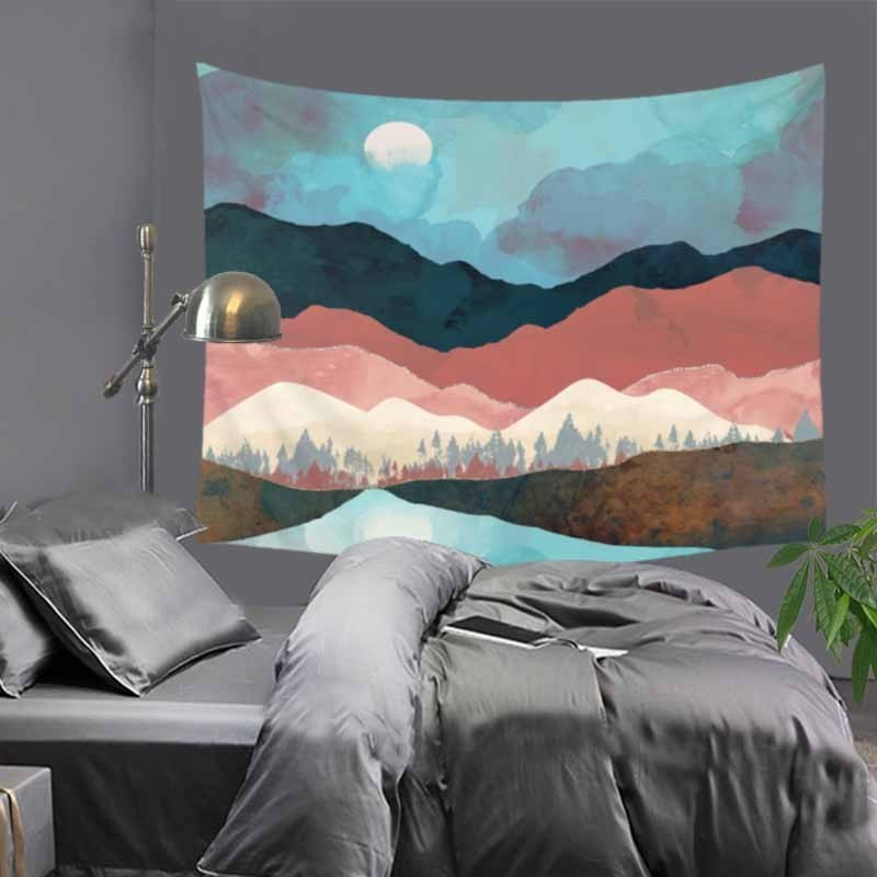"Купить с кэшбэком 51X60"" Rectangle Abstract Printed Polyester Wall Tapestry Home Decorative Wall Art Tapestry Carpet Beach Towel Tablecloth LZC4"