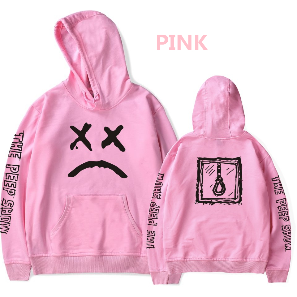 Lil Peep Love Sweatshirt hoodie Men Women THE PEEP SHOW Casual Pullover Hip Hop Lil Peep Rapper Hoodies Sad Face Boys Hoody