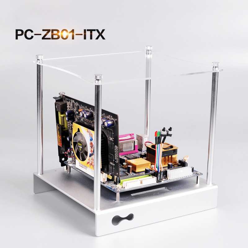 Open Frame Transparent Acrylic Computer PC Case DIY ITX//M-ATX//ATX Motherboard AP