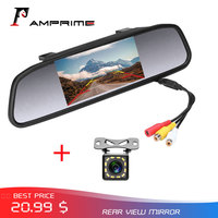 AMPrime 4.3 Car Rearview Mirror Monitor Auto Parking System + Car Rear View Camera Auto Reversing Parking Monitor