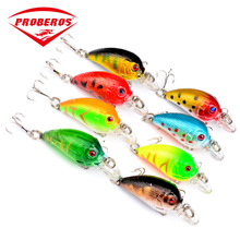 1PC Isca Artificial Small Crankbait Fishing Lure 45mm/ 4.2g Floating Wobbler Bait  Mini Top-water Attract Sea Pesca