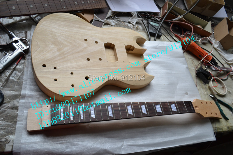 free shipping new unfinished electric guitar with mahogany body no painting   can be customized kinds of the guitar F-1936 new style high quality custom lp 1960 corvette electric guitar any color can be customized tonepro bridge free shipping