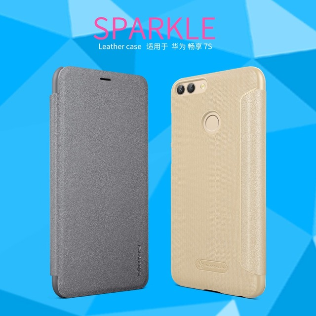 best service 70adc dd951 NILLKIN Sparkle PU leather case For Huawei P Smart flip cover Case ...