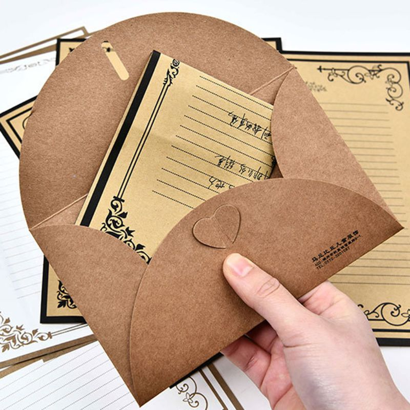 32pcs pack Retro Writing Letter Stationery Romantic Creative Chinese Style Lace Letterhead Note Paper in Letter Pad Paper from Office School Supplies