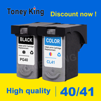 Toney King PG40 CL41 Ink Cartridge For PG 40 CL 41 Compatible for Canon Pixma MP160 MP140 MP210 MP220 MX300 printer cartridges