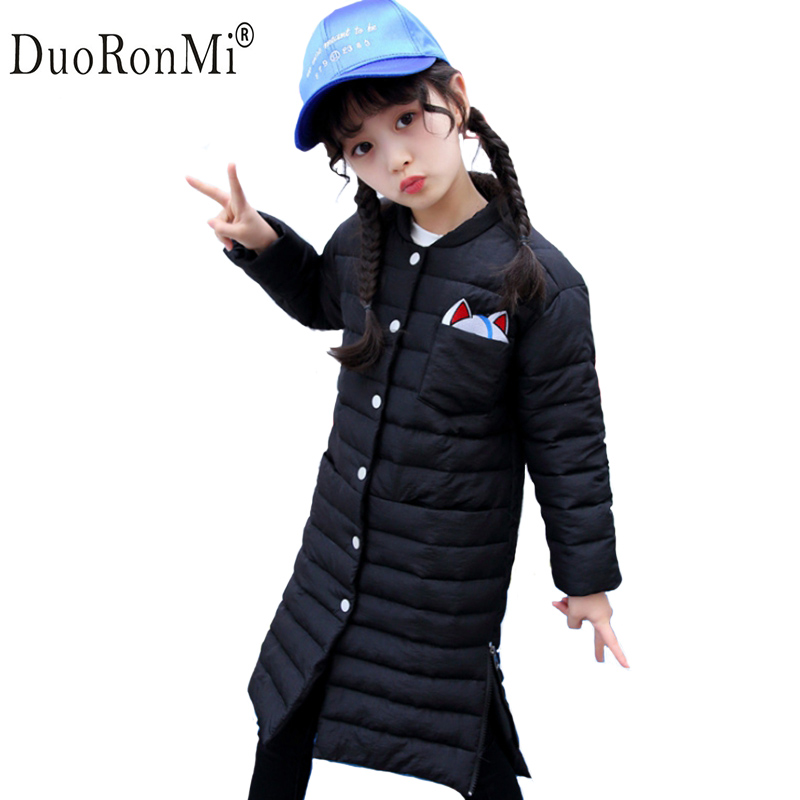 Girls winter Coat Children Parkas Warm Jackets for Girls Clothing Long Sleeve Cartoon Jacket Clothes for Kids Girls Tops Outwear cartoon boys girls winter down coat kids long sleeve hooded jackets children thick warm outwear clothes parkas for girls yb234