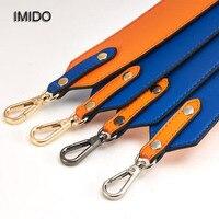 IMIDO Wholesale 16 Color Accessories for Bags Wide Shoulder Strap Replacement Handbag Cowhide Leather Messenger Bag Parts STP023