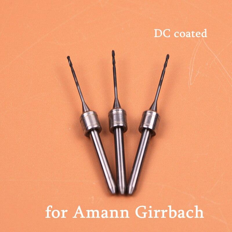 Fraises à fraiser dentaires à revêtement DC pour Amann Girrbach 0.6/1.0/2.5mm fraises à fraiser diamantées pour Amann Girrbach