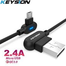 цены на KEYSION L Type Micro USB Fast Charging cable for Xiaomi redmi Note5 Data Cord Android Charger Micro USB Cable For Samsung S7 S6  в интернет-магазинах