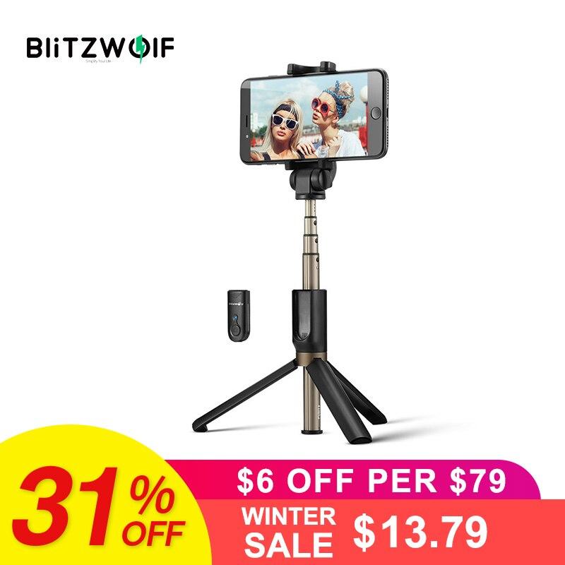 BlitzWolf 3 in 1 Drahtlose Bluetooth Selfie Stick Mini Stativ Erweiterbar Einbein Universal Für iPhone XR X 7 6 s plus Für Samsung