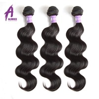 ALIMICE Peruvian Body Wave Non Remy Human Hair Weave Bundles Hair Extension Free Shipping Can Be