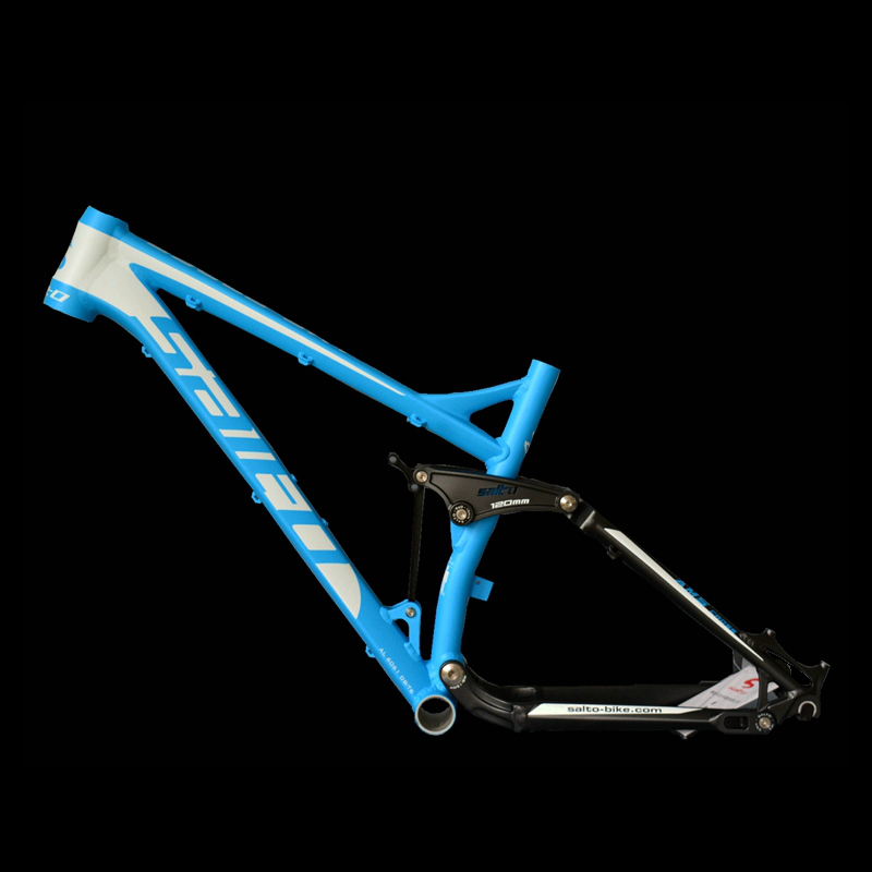 SALTO Full Suspension Frame Mountain Bicycle Shock Absorber Frame 26ER Aluminum Alloy Soft Tail Downhill Bicicleta Cadre Parts