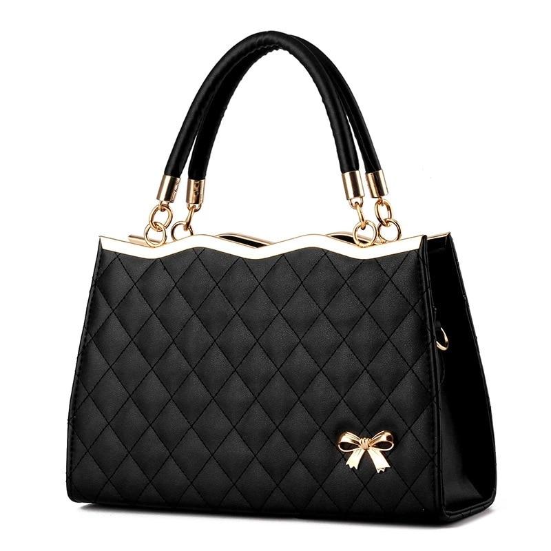 Women Handbags Messenger Bags Crossbody Leather Diamond Pattern Bag Female
