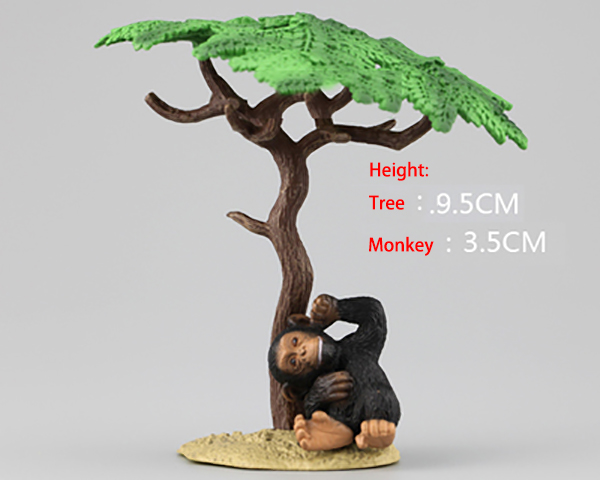Figurine Educational-Toy Collectible Monkey-Model Wild-Animal Japan Rement Kids Gift