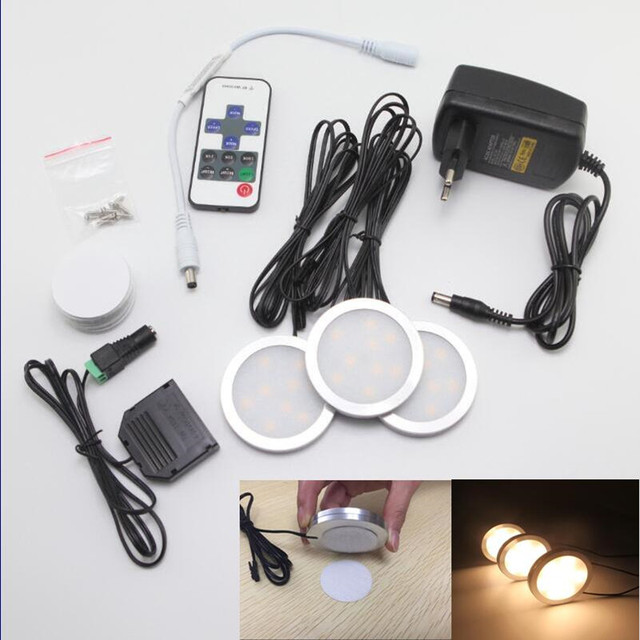 6w led under cabinet lighting kit 3pcs of 12v puck lights with rf 6w led under cabinet lighting kit 3pcs of 12v puck lights with rf dimmable wireless rf mozeypictures