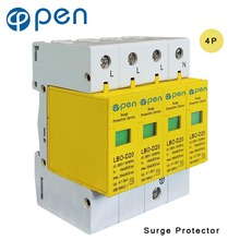 OPEN LBO-D20 Series Household SPD Surge Protector 3P+N 10kA 20kA 380VAC Low Voltage Arrester Device