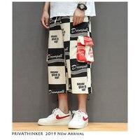 Privathinker Mens Summer Cargo Pants Streetwear 2019 Hip Hop Calf Length Pants Men Loose Big Pockets Joggers Casual Sweatpants