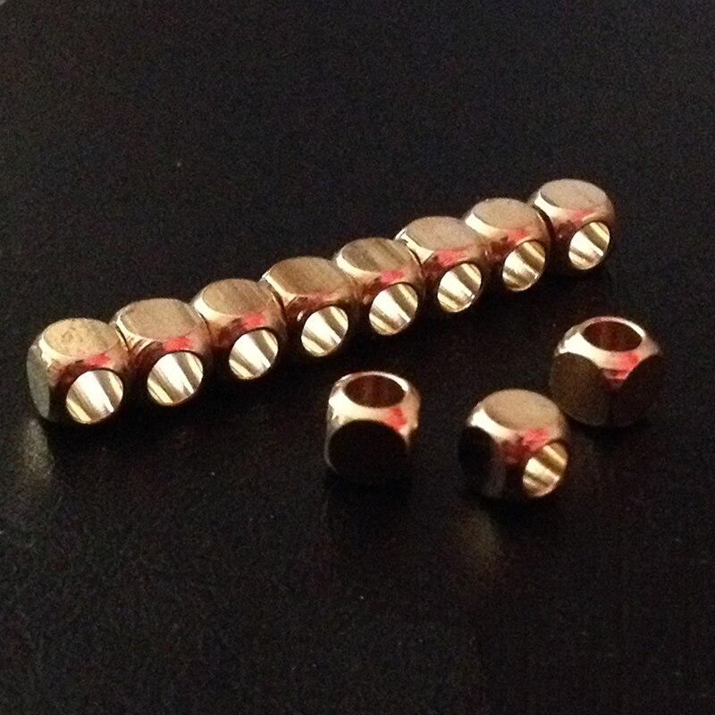 Choker Beads 35 6mm Silvertone Metal Spacer