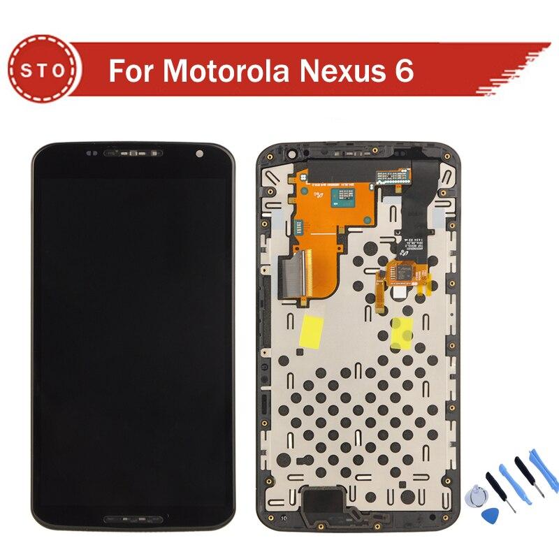 For Motorola Nexus 6 XT1100 XT1103 Glass LCD Display font b Touch b font font b
