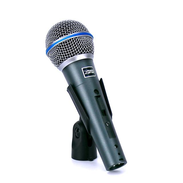 Профессиональный ручной переключатель кардиоидный вокальный микрофон динамический проводной микрофон для BETA58A KTV Караоке PC петь микрофон ...