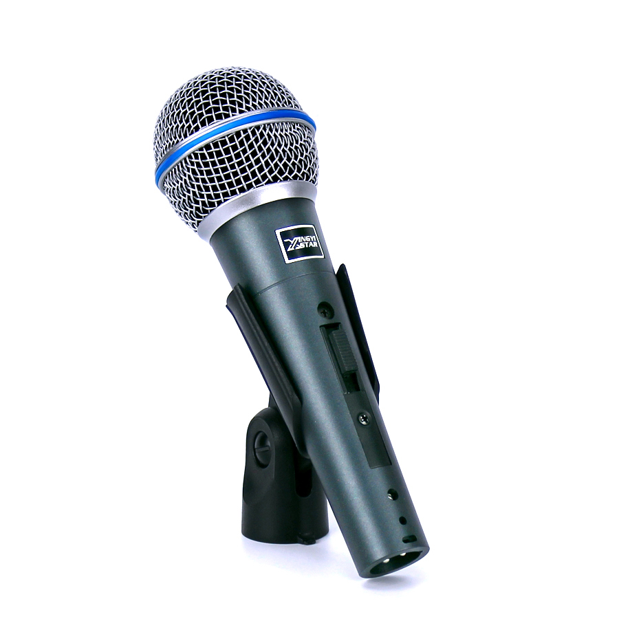 Professional Handheld Switch Cardioid Vocal Mic Dynamic Wired Microphone For BETA58A KTV Karaoke PC Sing Microfone fio Microfono professional handheld dynamic karaoke mic vhf wireless microphone system with receiver for ktv fio microfone mikrofon microfono