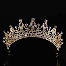 KMVEXO Luxury Nuziale di Cristallo Diadema Corone Principessa Regina Pageant Prom Strass Veil Diademi Fascia Wedding Accessori Per Capelli