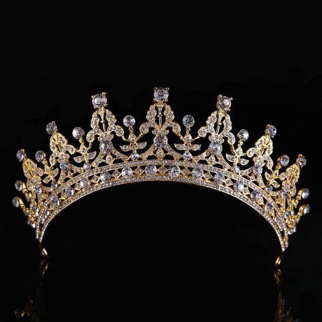 KMVEXO Luxury Bridal Crystal Tiara Crowns Princess Queen Pageant Prom Rhinestone