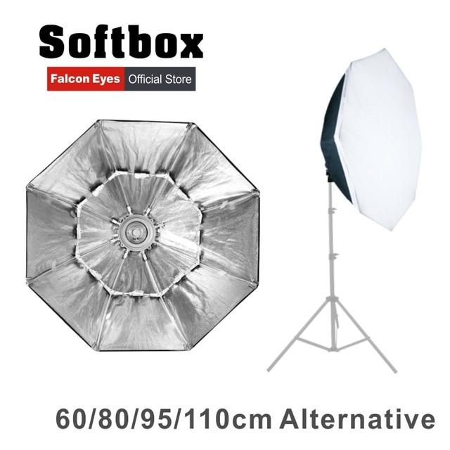 Falcon Eyes Portable Foldable Octagon Softbox 60/80/90/110cm Umbrella Diffuser Reflector for Photo Studio Flash Speedlite CD50 falcon eyes macro studio 60 led