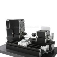 CNC Lathe Machine 12000r/min 110V 240V saw Workbench area 90*90mm Mini lathe Machine Tool metal plate