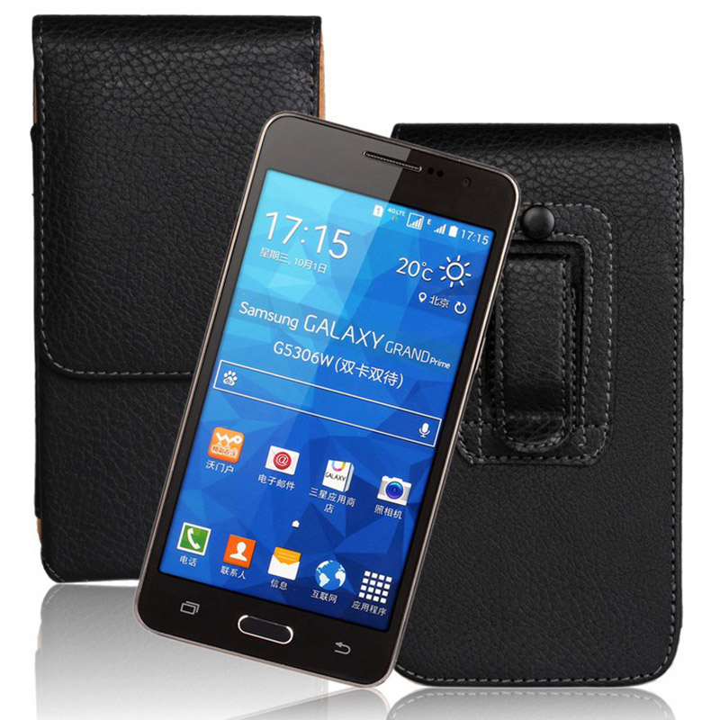 5.0-5.2 inch Universal Belt Clip Holster PU Leather Case for Huawei Honor 8 5 inch Cover phone cases Accessories