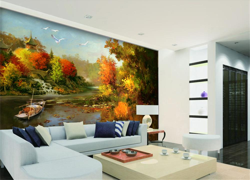 Compare prices on beautiful autumn wallpaper online for Custom mural cost