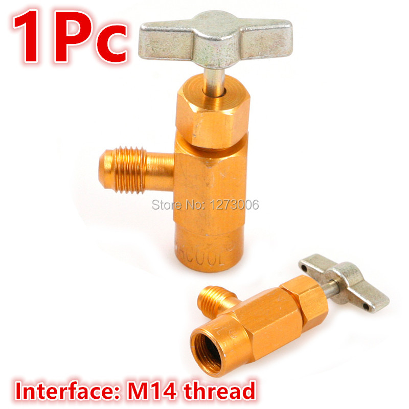 R-134a Refrigerant Can Bottle Tap 1//4 SAE M14 Thread Adapter Opener Valve Tool