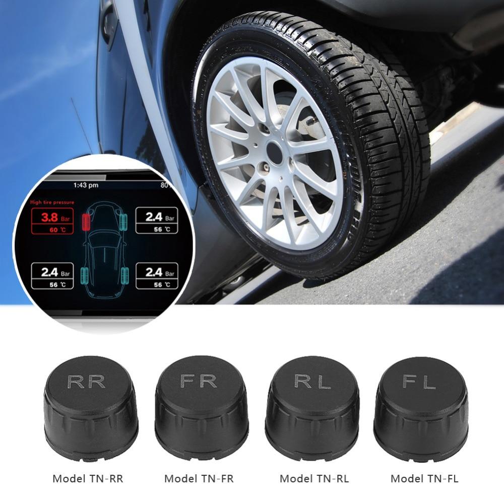 Car TPMS Tire Pressure Sensor Monitoring System External Alarm Tire Pressure Auto Alarm Tool Wireless 4 External Sensor