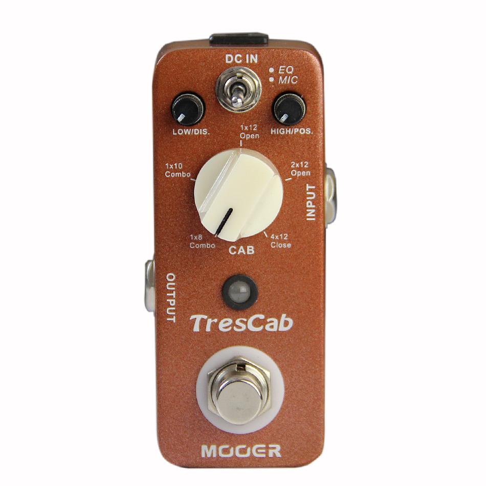 Mooer TresCab High quality Digital Cab Simulated Guitar Effects Pedal with 5 Different Types of Cab Choices Guitar Accessories