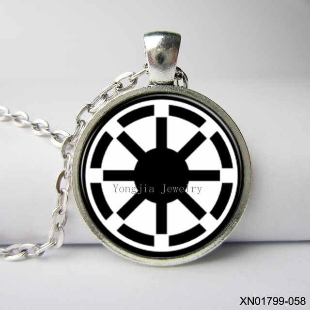 Star Wars Pendant Galactic Republic Symbol Necklace Bohemian